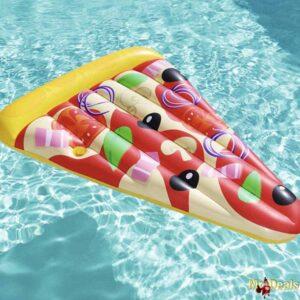 Φουσκωτό στρώμα Θαλάσσης διάστασης 180x130cm σε σχήμα κομμάτι Πίτσα Pizza