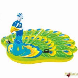Γίγας Φουσκωτό Στρώμα Θαλάσσης Πισίνας σε σχήμα παγώνι με 2 λαβές, διάστασης 193x163x94cm