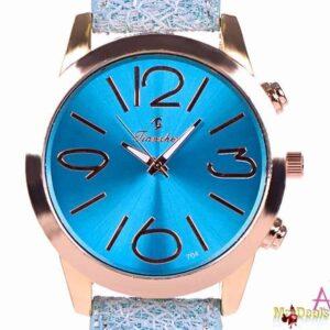 Γυναικείο ρολόι χειρός με μπλε λουρί και χρυσαφί κάσα της Tianzhen by Amaryllida's Art collection