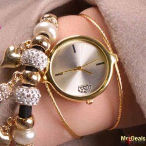 Κομψό γυναικείο ρολόι σε χρυσή απόχρωση, ένα πραγματικό κόσμημα by Amaryllida's Art collection