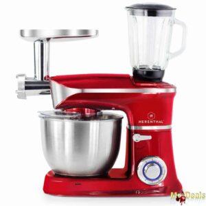 Κουζινομηχανή, Μίξερ, Μπλέντερ, Κρεατομηχανή με κάδο 6,5L με ένδειξη Led με 6 ταχύτητες
