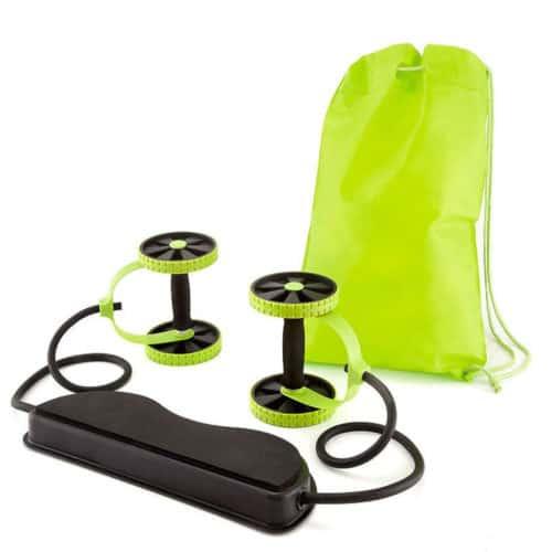 Όργανο γυμναστικής πολλαπλών χρήσεων αντίστασης με ρόδες και λάστιχα Revoflex Xtreme