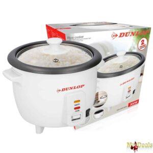 Παρασκευαστής ρυζιού με Αντικολλητική επίστρωση, Κουτάλι, Σπάτουλα και Γυάλινο Καπάκι