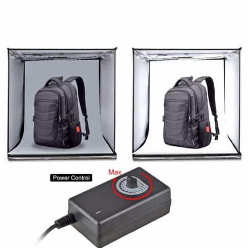 Φορητό Studio Φωτογράφησης με LED διάστασης 40Χ40 για τέλειες φωτογραφίες χωρίς σκιές και σκοτεινά σημεία