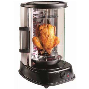 Ηλεκτρονική Ψησταριά για γύρο, κοτόπουλο και λαχανικά 1500W με πυρίμαχο γυάλινο πορτάκι
