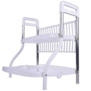 Μεταλλική διπλή ραφιέρα βάση για το στέγνωμα των πιάτων 2 επιπέδων ανθεκτική σε βάρος έως 10 κιλά