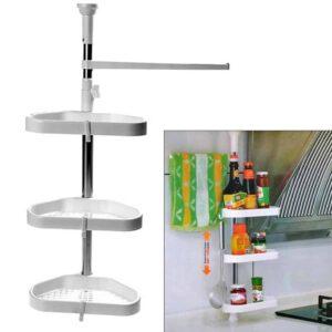 Τριπλή ραφιέρα πολλαπλών χρήσεων με ύψος 60-100cm ιδανική για την οργάνωση της κουζίνας σας