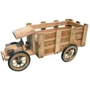 Ξύλινο διακοσμητικό κασπώ φορτηγάκι για γλάστρες φυσικά ή τεχνητά φυτά διάστασης 56.5Χ28Χ26cm