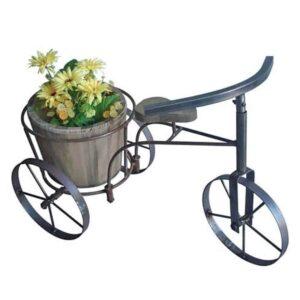 Ξύλινο διακοσμητικό κασπώ ποδηλατάκι για γλάστρες φυσικά ή τεχνητά φυτά διάστασης 60Χ32Χ38cm