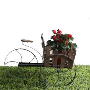 Ξύλινο διακοσμητικό κασπώ ποδηλατάκι για γλάστρες φυσικά ή τεχνητά φυτά διάστασης 70Χ44Χ43cm