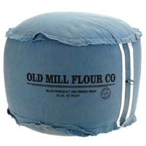 Μοναδικό πουφ σκαμπό υφασμάτινο ιδανικό για χαλάρωση και ηρεμία σε χρώμα μπλε διάστασης 50x30cm
