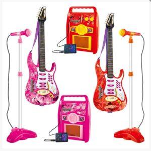 Παιδικό Σετ Κιθάρα με μικρόφωνο και ηχείο σε 2 χρώματα Ροζ και Κόκκινο ύψους 85cm Play Tent