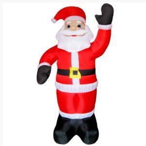 Διακοσμητικός Άγιος Βασίλης Γίγας 180cm ύψος Φουσκωτός με LED φωτισμό