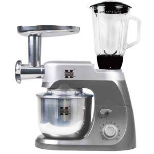 Κουζινομηχανή, Μίξερ, Μπλέντερ, Κρεατομηχανή με κάδο 4,2L με ένδειξη Led με 10 ταχύτητες σε γκρι χρώμα