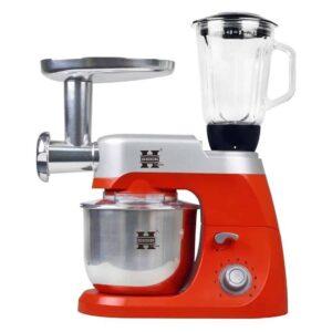 Κουζινομηχανή, Μίξερ, Μπλέντερ, Κρεατομηχανή με κάδο 4,2L με ένδειξη Led με 10 ταχύτητες σε κόκκινο χρώμα