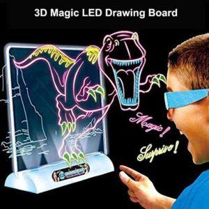 Μαγικός πίνακας ζωγραφικής τρισδιάστατος με φωσφοριζέ μαρκαδόρο και γυαλιά 3D