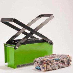 Μεταλλική πρέσα χαρτιού για κατασκευή μπρικέτας άπό άχρηστα χαρτιά για το τζάκι σας ή την σόμπα σας