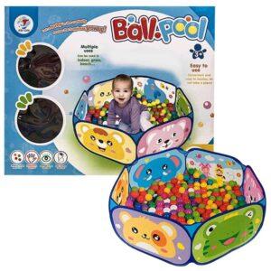Παιδική ανοικτή σκηνή με 50 μπάλες 6cm που ανοίγει και κλείνει εύκολα διάστασης 90x90cm
