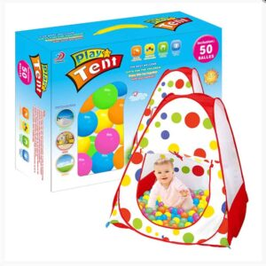 Παιδική σκηνή με 50 μπάλες 6cm που ανοίγει και κλείνει εύκολα διάστασης 90x90x90cm