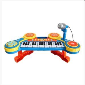 Παιδικό Αρμόνιο με 31 κλειδιά με Μικρόφωνο και φως διάστασης 52x25cm Play Tent