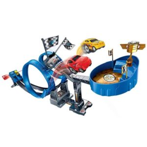Παιχνίδι αυτοκινητόδρομος με κορδόνι και δύο λουπ διάστασης 73x50x88cm TOYmarkt