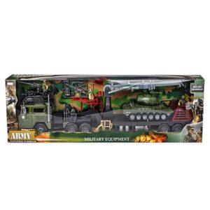 Παιχνίδι Στρατιωτική Νταλίκα ARMY Γίγας μήκους 85cm με αξεσουάρ TOYmarkt