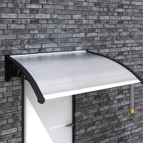 Πλαστικό Κιόσκι Τέντα πόρτας εισόδου, διαστάσεων 120x90cm, κατάλληλη για εξωτερικό χώρο σε μαύρο χρώμα