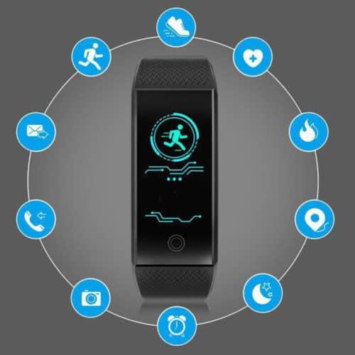 Βιομετρικό Αδιάβροχο Ρολόι SmartWatch με Πιεσόμετρο, Οξύμετρο, Παλμογράφο, Μέτρηση Βημάτων & Ποιότητας Ύπνου
