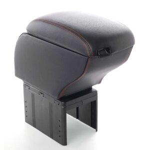 Κονσόλα χειροφρένου τεμπέλης αυτοκινήτου με σταχτοδοχείο, USB και 3 θύρες αναπτήρα σε Μαύρο χρώμα