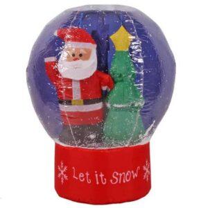 Μεγάλη Φουσκωτή Χριστουγεννιάτικη Χιονόμπαλα 65εκ με Εφέ Χιονιού και Φωτισμό