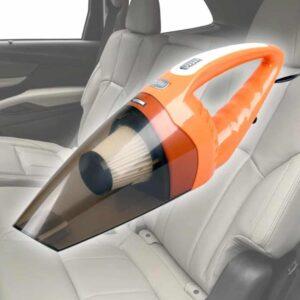 Μικρό κι ελαφρύ φορητό σκουπάκι αυτοκινήτου με 5 εξαρτήματα, καθαρίζει και απορροφά ακόμη και υγρά