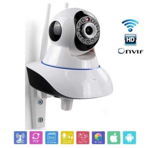 Έγχρωμη Περιστρεφόμενη Ρομποτική IP Κάμερα WIFI με Νυχτερινή Λήψη έως 10m και τηλεχειριζόμενη
