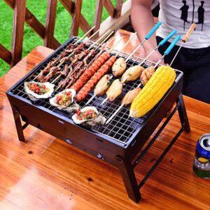 Φορητή Ελαφριά Μικρή Ψησταριά Barbecue διαστάσεων 35,5x27x23cm σε μαύρο χρώμα