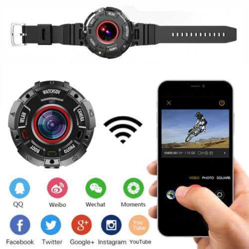 Εξαιρετικης Αντοχής Αδιάβροχη κάμερα Action Cam υψηλής ανάλυσης Full HD 8MP Wifi