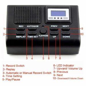Ψηφιακό Σύστημα Καταγραφής Τηλεφωνικών Κλήσεων Κοριός Για Σταθερό Τηλέφωνο