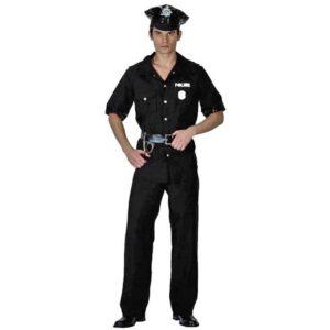 Αποκριάτικη Ανδρική Στολή Αστυνομικός με καπέλο, μπλούζα, παντελόνι και ζώνη