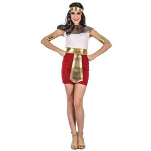 Αποκριάτικη Γυναικεία Στολή Αιγύπτια Βασίλισσα με φόρεμα, ζώνη, κολάρο και αξεσουάρ κεφαλής