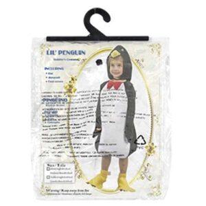 Αποκριάτικη Παιδική Μπεμπέ Στολή Πιγκουϊνος με ολόσωμη φόρμα και κουκούλα