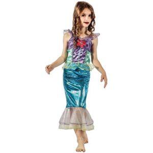 Αποκριάτικη Παιδική Στολή Γοργόνα με φόρεμα