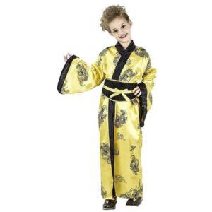 Αποκριάτικη Παιδική Στολή Κινέζα με φόρεμα και ζώνη