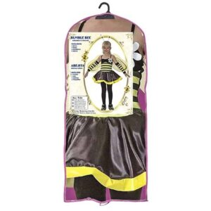 Αποκριάτικη Παιδική Στολή Μέλισσα με φόρεμα, φτερά, αξεσουάρ κεφαλής και γάντια