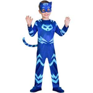 Αποκριάτικη Παιδική Στολή PJ MASK CATBOY με ολόσωμη φόρμα και μάσκα