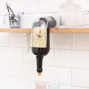 Επιτραπέζιο ρολόι σε σχέδιο μπουκάλι που λιώνει με κλίση 90 μοιρών για να στέκεται παντού
