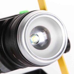 Ισχυρός επαναφορτιζόμενoς φορητός LED προβολέας που ζουμάρει 30W 2400lm σε κίτρινο χρώμα