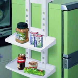 Κρεμαστή ραφιέρα για το ψυγείο με 3 ράφια διάστασης 35x16x50cm σε χρώμα λευκό