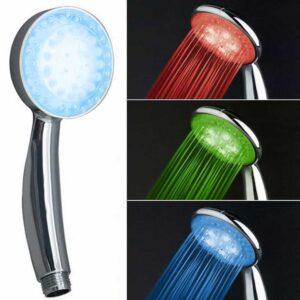 Τηλέφωνο ντους με LED φως που αλλάζει χρώμα ανάλογα με τη θερμοκρασία του νερού στο μπάνιο