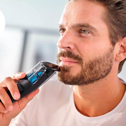 Επαναφορτιζόμενη Ξυριστική Μηχανή για το Πρόσωπο με Σύστημα Αναρρόφησης Philips