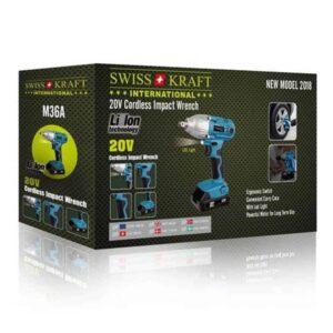 Ασύρματο Ηλεκτρικό Τρυπάνι 20V με LED Φωτισμό γρήγορης φόρτισης με μπαταρία λιθίου 3.0Ah Swiss Kraft
