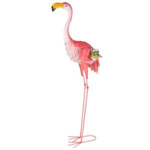 Φλαμίνγκο Flamingo Διακοσμητικό Κήπου Εξωτερικού χώρου ύψους 104cm από μέταλλο
