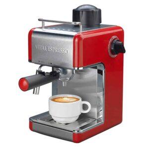 Μηχανή Espresso 800W 3.5 Bar με ακροφύσιο ατμού για 4 φλιτζάνια καφέ χωρίς κάψουλες